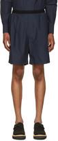 Kolor Navy Poplin Shorts