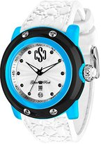 Glam Rock Miami Beach GR2401 46mm Plastic Case White Silicone Mineral Men's & Women's Watch