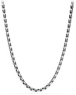 David Yurman Sterling Silver Elongated Chain Necklace