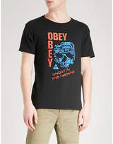 Obey Ghosts In The Machine Cotton-jersey T-shirt