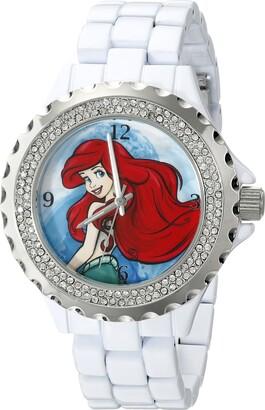 Disney Women's W001815 Ariel Analog Display Analog Quartz White Watch