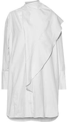Ellery Metrica Draped Cotton-poplin Mini Dress