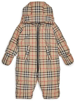 Burberry Kids Vintage Check Padded Playsuit