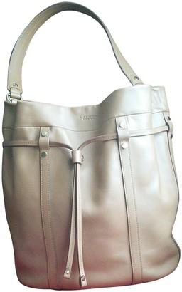 Lancel Elsa Sellier Beige Leather Handbags