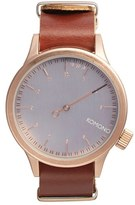Komono Men's 'Magnus The One' Round Leather Strap Watch, 46Mm