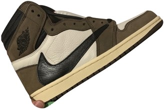Nike X Travis Scott Air Jordan 1 Brown Leather Trainers