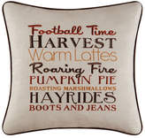 Red Barrel Studio Herb Harvest Football Time Embroidered Throw Pillow