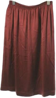 Celine Burgundy Silk Skirts