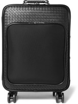 Bottega Veneta Intrecciato Leather and Canvas Suitcase