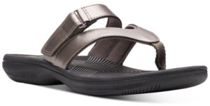 Clarks Collection Women's Brinkley Marin Flip-Flop Sandals Women's Shoes