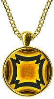 Artisan Courtyard Adinkra Fihankra of the House for Security & Safety Gold Pendant