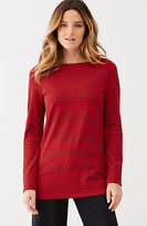 J. Jill Ponte Knit Windowpane Side-Buttoned Top