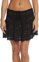 J Valdi J.Valdi Circle Stripe Crochet Ruffle Skirt 8153993