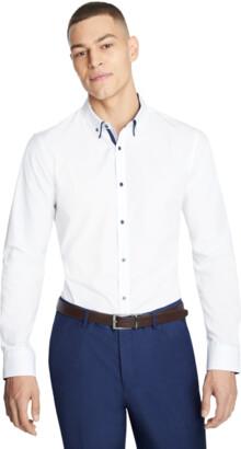 yd. White Oliver Slim Dress Shirt