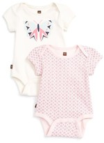 Tea Collection Infant Girl's Flutterby 2-Pack Bodysuits
