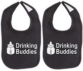 Crazy Baby Clothing Milk Drinking Buddies Twin Set Unisex Newborn Baby Soft 100% Cotton Bibs 2 Piece in