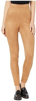 BCBGeneration Faux Suede Scuba Knit Leggings ZVU2215803 (Camel) Women's Casual Pants