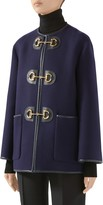 Gucci Horsebit Toggle Wool Blend Military Caban Coat