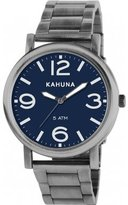 Kahuna Men's Quartz Watch with Blue Dial Analogue Display and Black Bracelet KGB-0003G