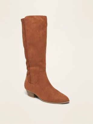 Old Navy Tall Faux-Suede Western Boots for Women