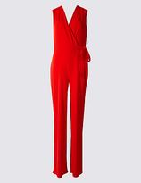 M&S Collection Wide Leg Tie Detail Jumpsuit