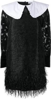 Ganni Jacquard-Woven Mini Dress