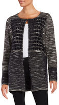 T Tahari Sima Eyelash Knit Cardigan