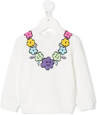 Stella McCartney Floral Neck Sweatshirt