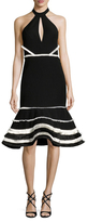 Alexis Dorian Striped Flounce Dress