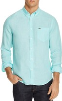 Lacoste Linen Regular Fit Button-Down Shirt