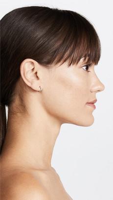 Adina Reyter 14k Gold Pave Huggie Hoop Earrings