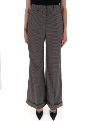 See by Chloe Houndstooth Wide Leg Trousers