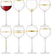 LSA International Deco Assorted Wine Goblets, Set of 8