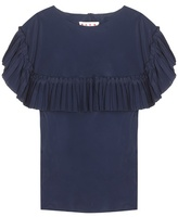Marni Ruffled silk-blend top