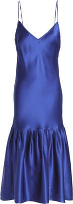 Maggie Marilyn Gathered Silk-satin Dress
