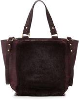 Nanette Lepore Fur Block Tote, Mulberry