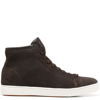 Santoni Logo-Patch High Top Trainers