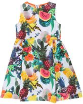 Molo Carita Fruits Print Cotton Poplin Dress