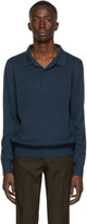 A.P.C. Blue Harold Long Sleeve Polo