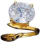 Bijules Women's 18ct Gold Vermeil Phalange Cocktail Ring - Size Medium