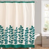 Lush Decor Vineyard Allure Shower Curtain, 72 by 72-Inch, Green