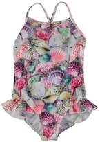 Molo Noona One-Piece Seashell Swimsuit, Multicolor, Size 9M-12