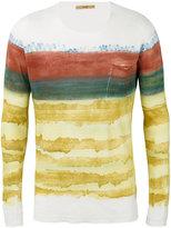 Roberto Collina blurry stripes slim-fit jumper