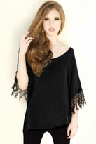 For Love and Lemons Roosevelt Top in Black