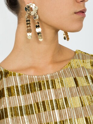 Eddie Borgo crisscross pinned paillette earrings