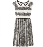 Speechless Girls 7-16 Floral Stripe Dress