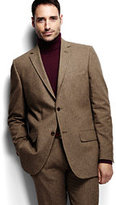 Classic Men's Traditional Fit Brushed Cotton Sportcoat-Brown Herringbone