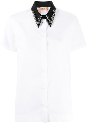 No.21 Short Sleeved Contrasting Collar Shirt