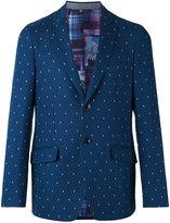 Etro dot weave two button jacket - men - Cotton/Silk/Cupro - 50