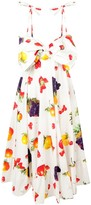 MSGM fruit print flared dress